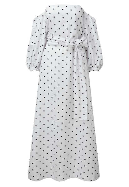 ROSIE EMBROIDERED LINEN DRESS