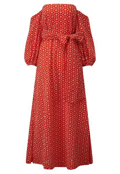 ROSIE TOMATO DAISY EYELET DRESS
