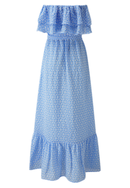 SABINE CORNFLOWER DAISY EYELET DRESS