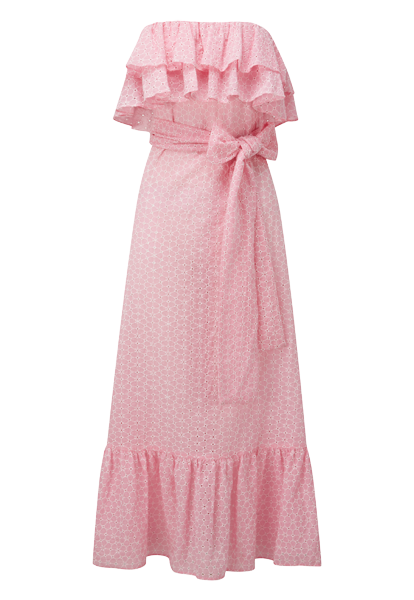 SABINE PINK DAISY EYELET DRESS