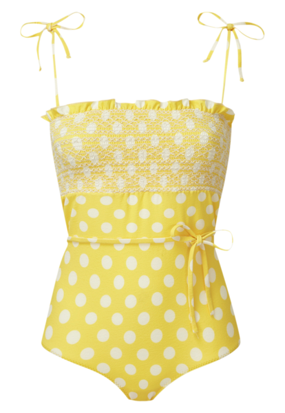SELENA YELLOW POLKA DOT MAILLOT