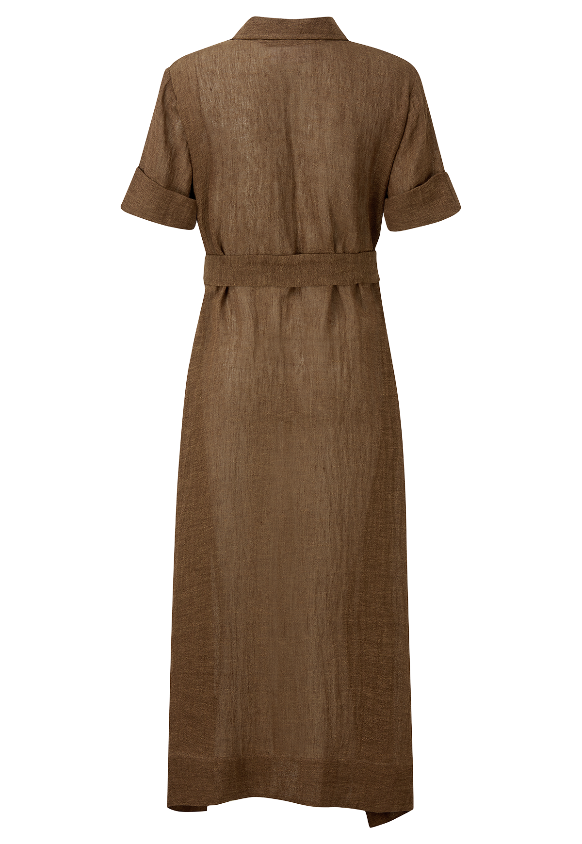 MOCHA ORGANIC GAUZE SHIRT DRESS