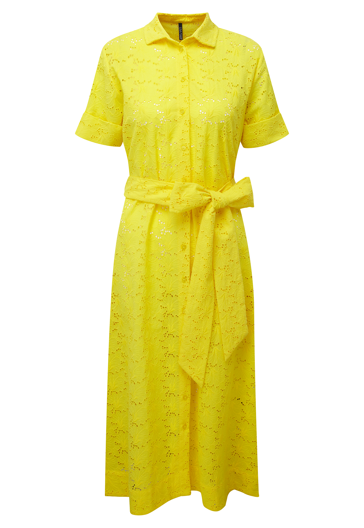 LEMON EYELET SHIRT DRESS