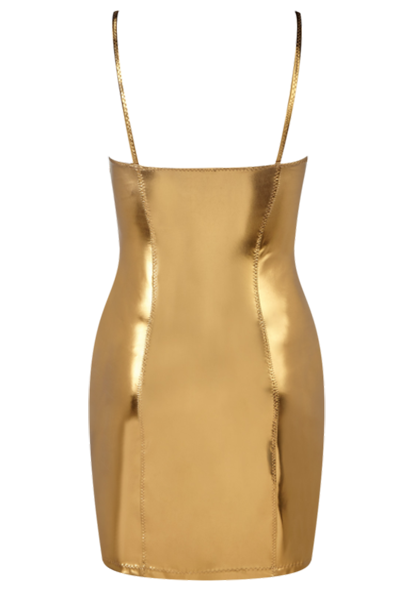 TANK BRONZE METALLIC PVC DRESS