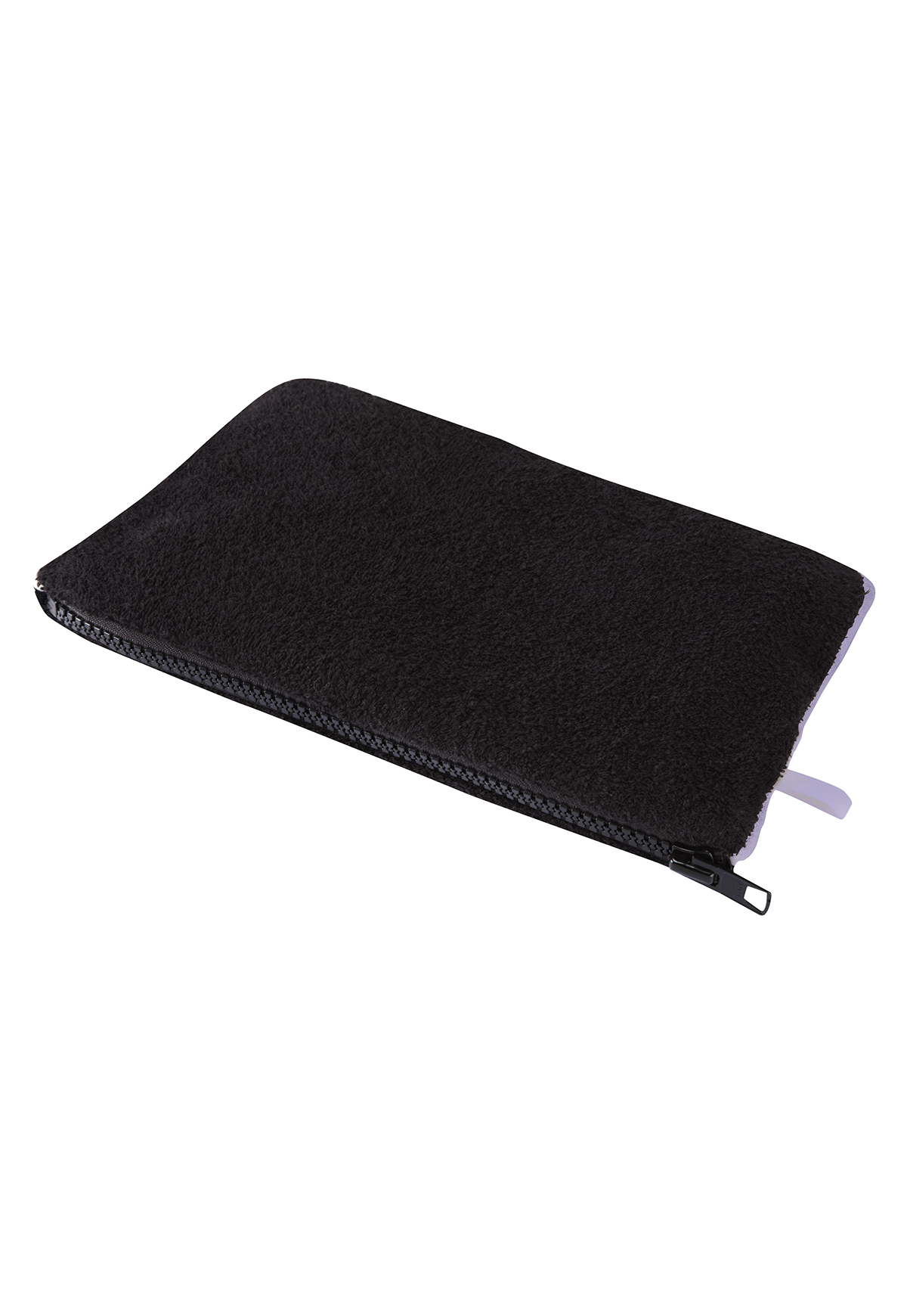 BLACK TERRY CLOTH POCHETTE
