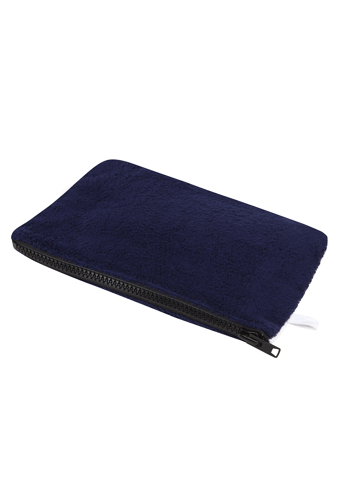 NAVY TERRY CLOTH POCHETTE