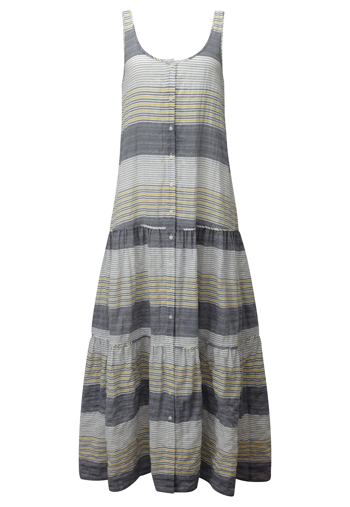 STRIPED COTTON TIER DRESS