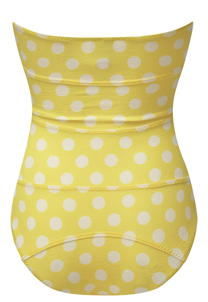 TRIPLE POPPY YELLOW POLKA DOT MAILLOT