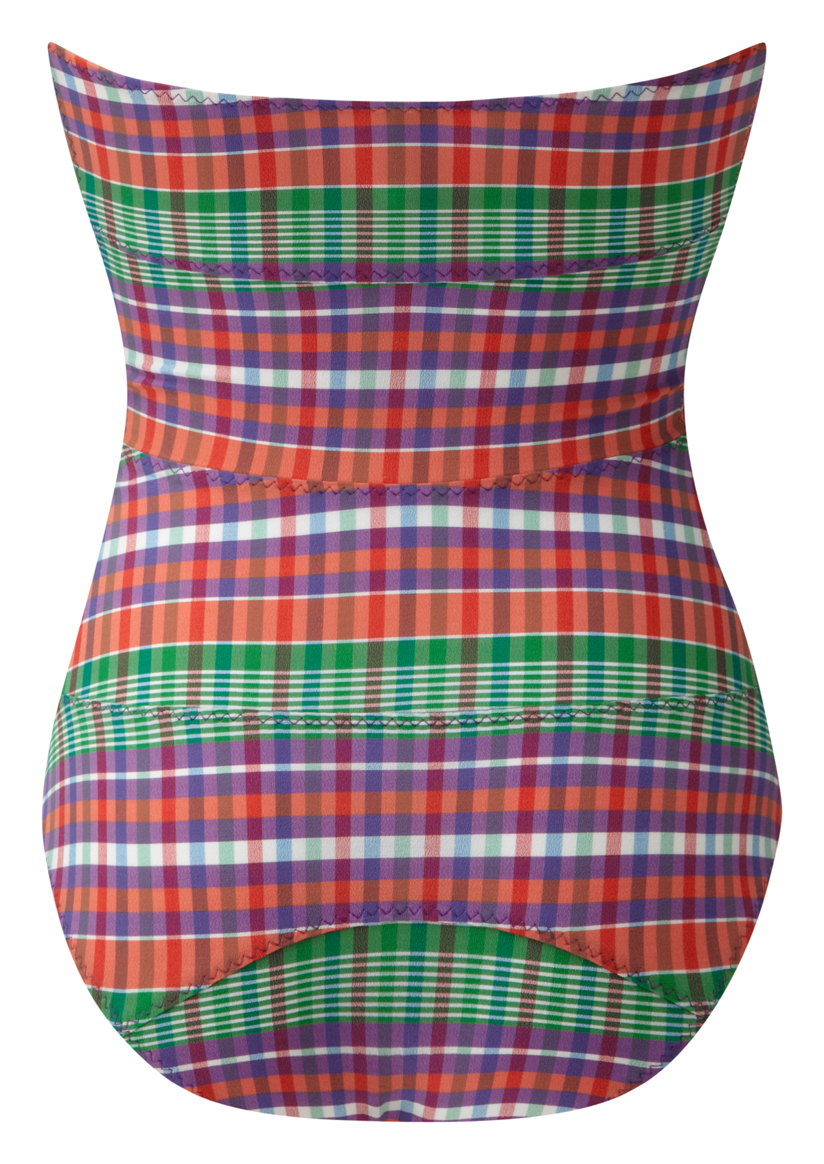 TRIPLE POPPY MADRAS MAILLOT