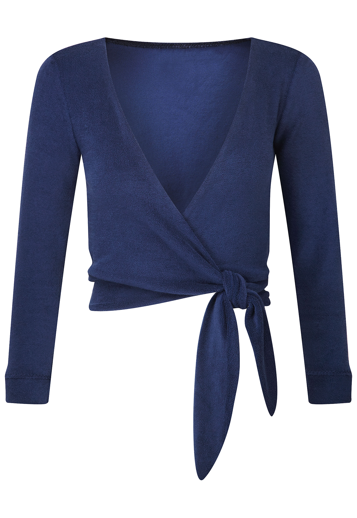 DREE NAVY TERRY SPORT WRAP TOP