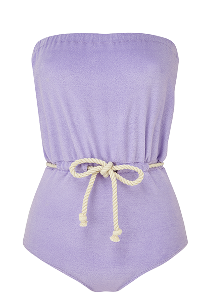 VICTOR LAVENDER TERRY DRAWSTRING MAILLOT