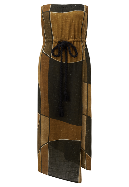 VICTOR AFRICAN MUDCLOTH DRESS