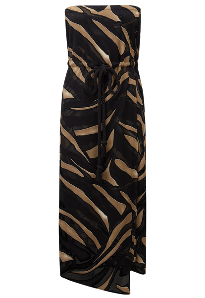 VICTOR ZEBRA DEVORE MAXI DRESS