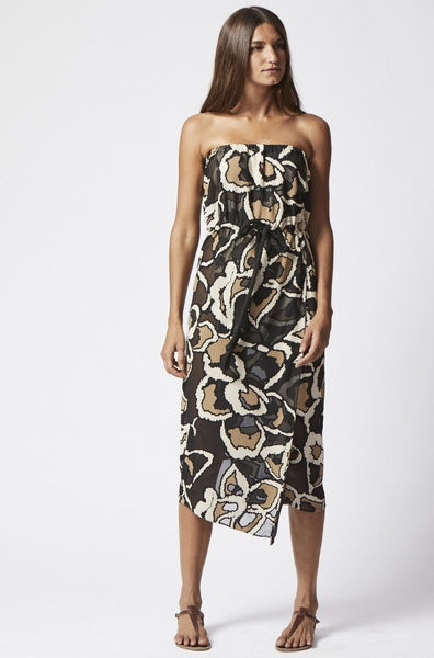 VICTOR CHEETAH DEVORE MAXI DRESS