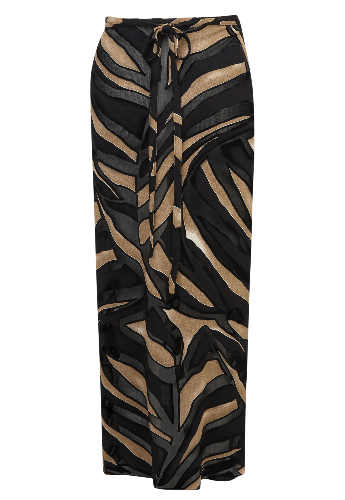 ZEBRA DEVORE WRAP SKIRT