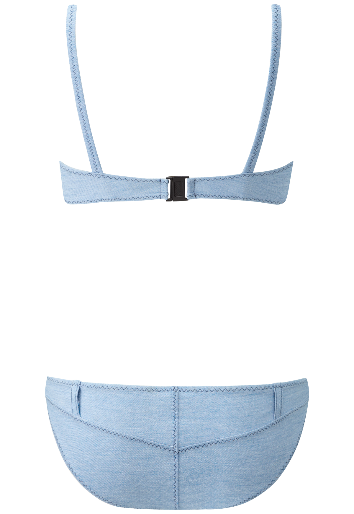 YASMIN FADED DENIM BELT LOOP BIKINI