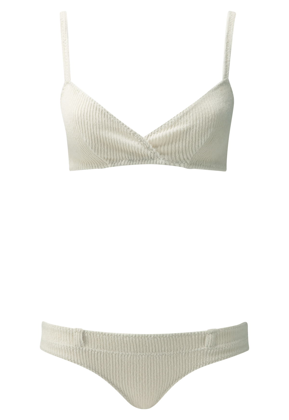 YASMIN CREAM COTTON BELT LOOP BIKINI
