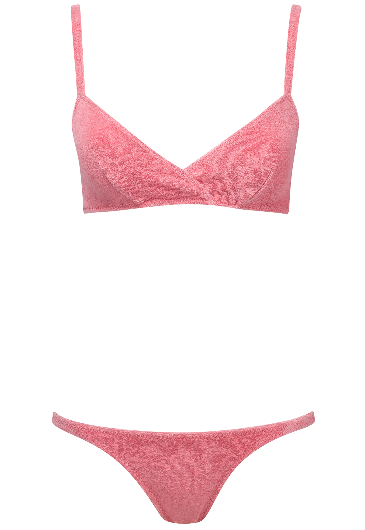 YASMIN PINK TERRY CLOTH BIKINI
