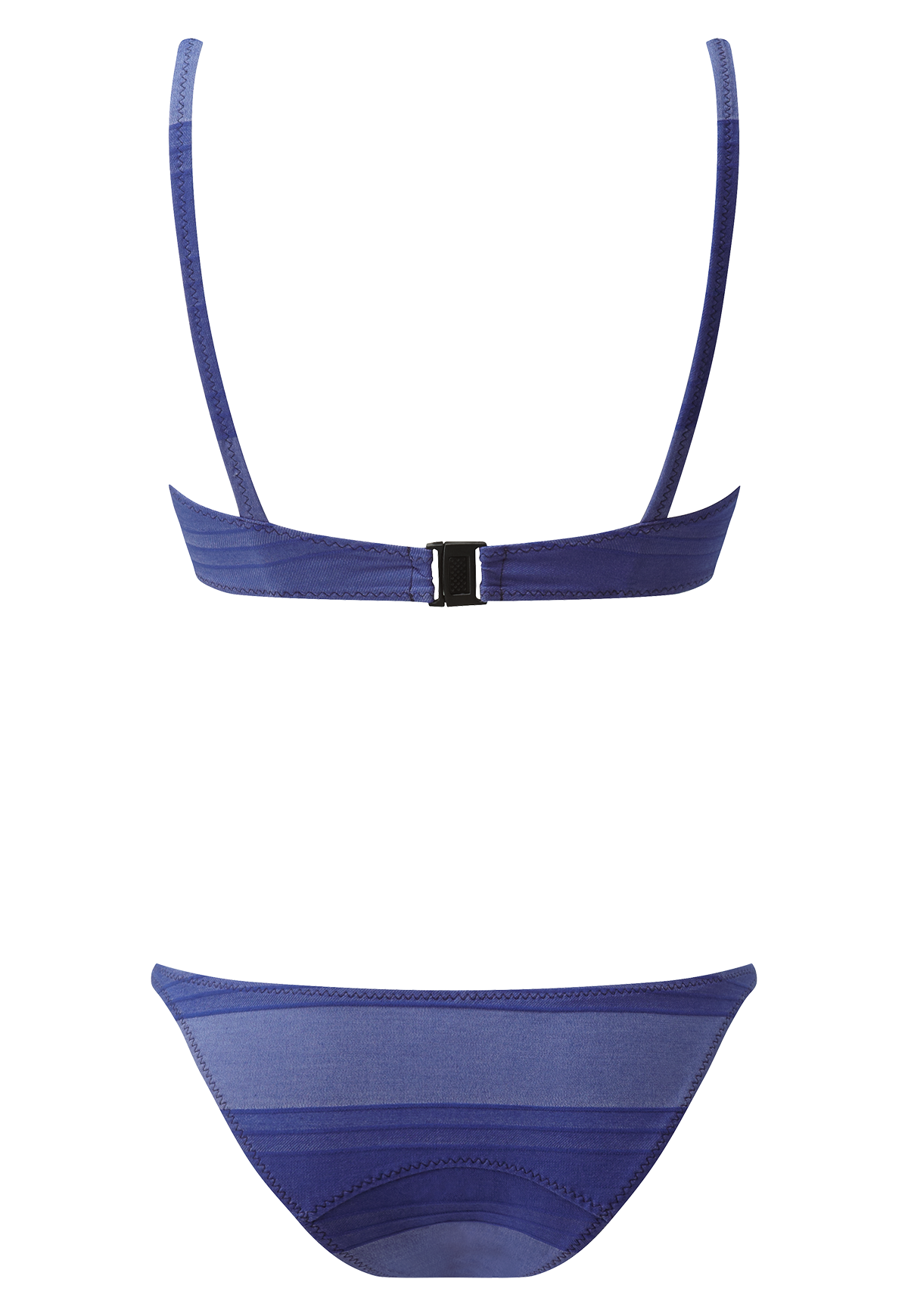 YASMIN BLUE STRIPED COTTON BIKINI