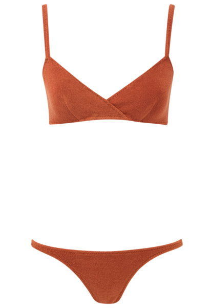 YASMIN TERRACOTTA TERRY CLOTH BIKINI