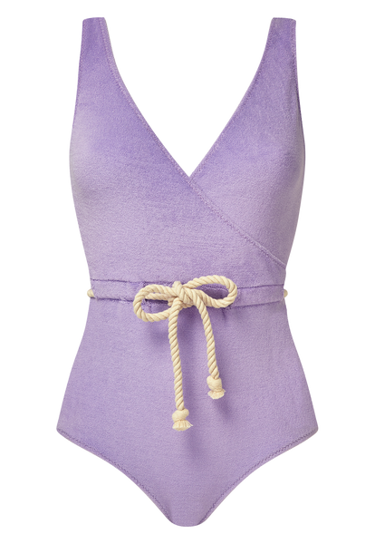 YASMIN LAVENDER TERRY CLOTH MAILLOT
