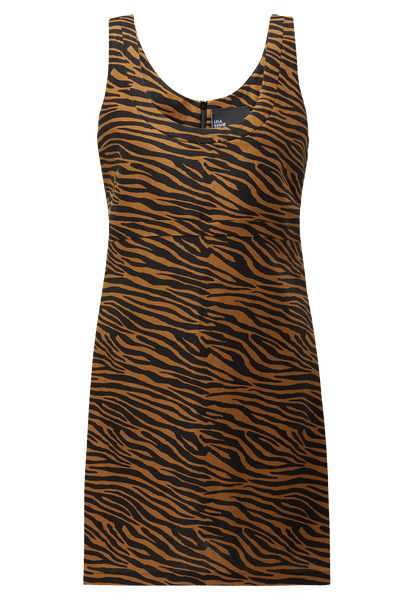 ZANI ZEBRA LINEN MINI DRESS