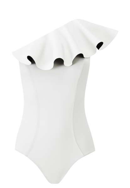 ARDEN WHITE FLOUNCE MAILLOT