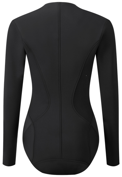 FARRAH LONG BLACK NEOPRENE MAILLOT (COMING SOON)