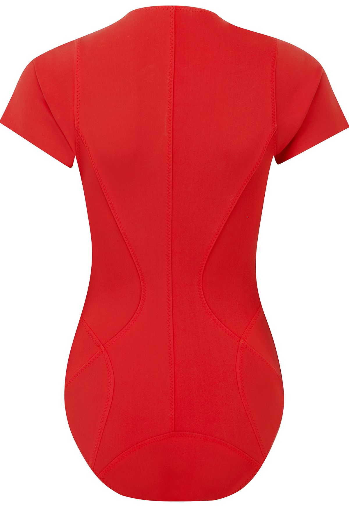 FARRAH RED BONDED MAILLOT