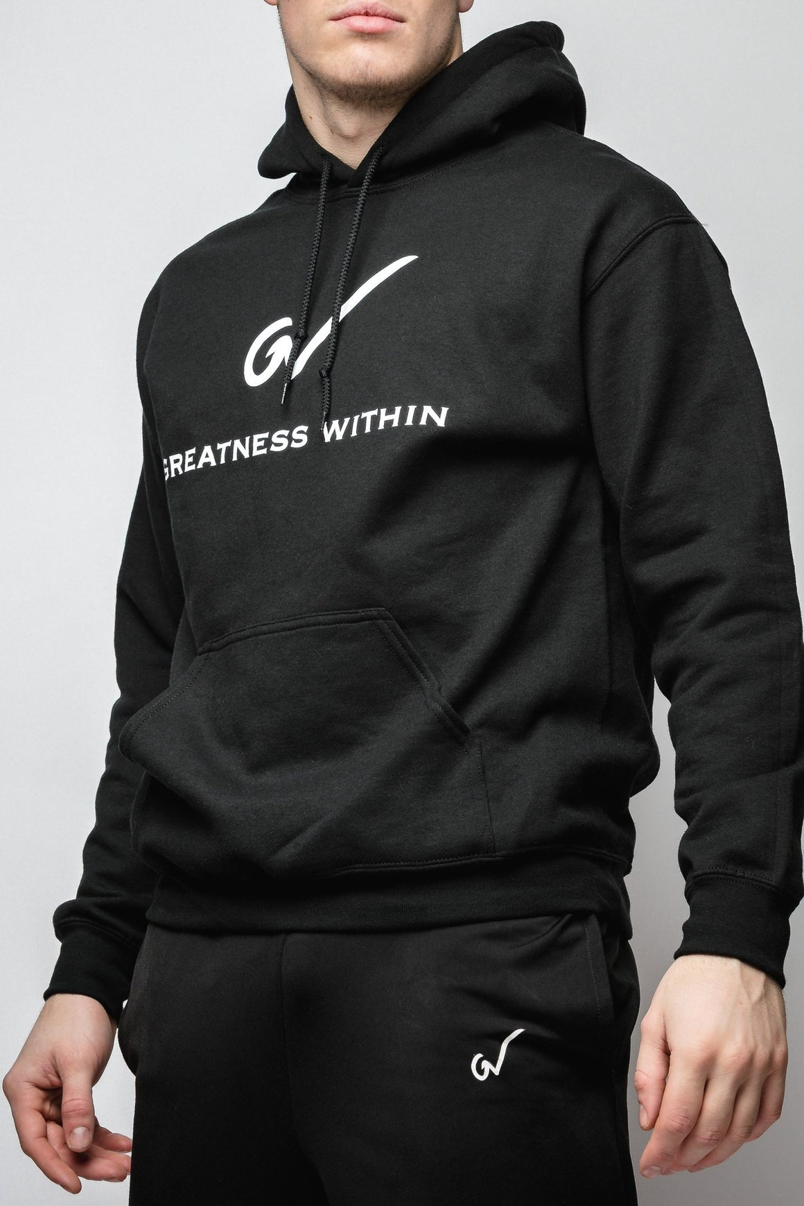 GW Black Hoodie - Greatness Within