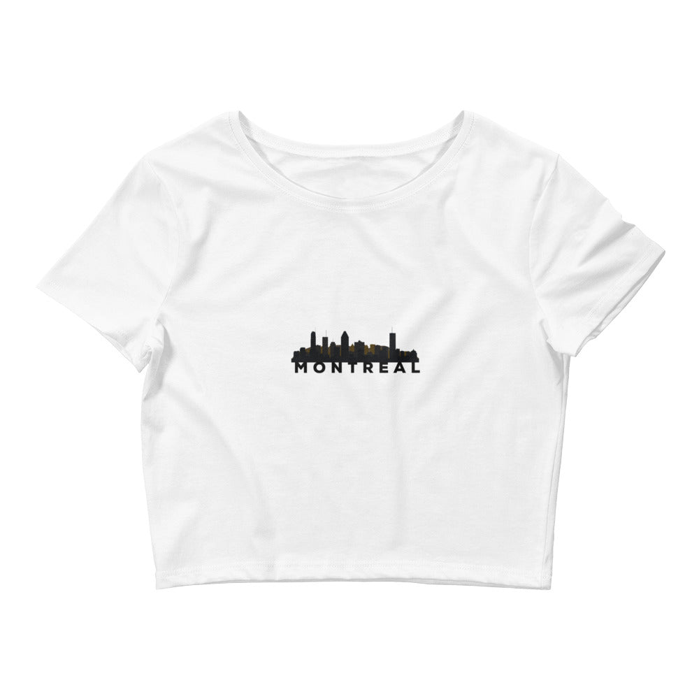 GW Skyline - Crop Top (White) - Greatness Within