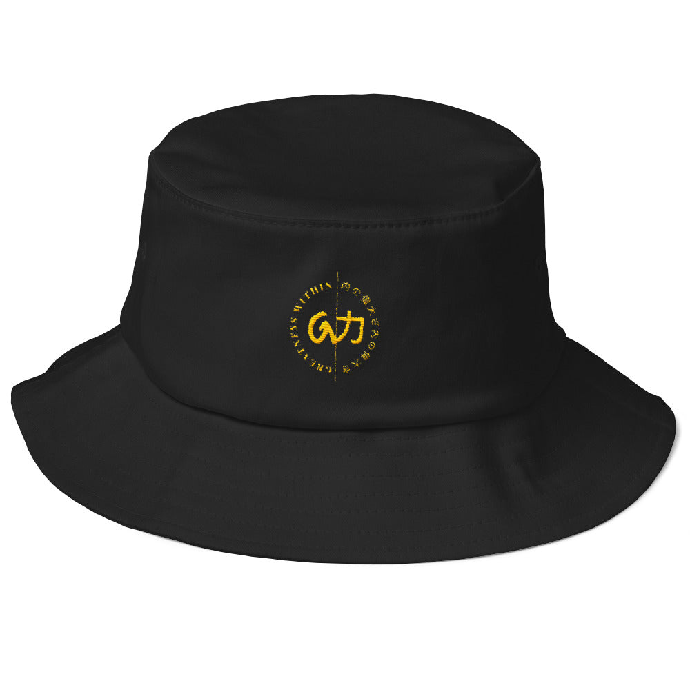 GW BUCKET HAT - Black & Gold - Greatness Within