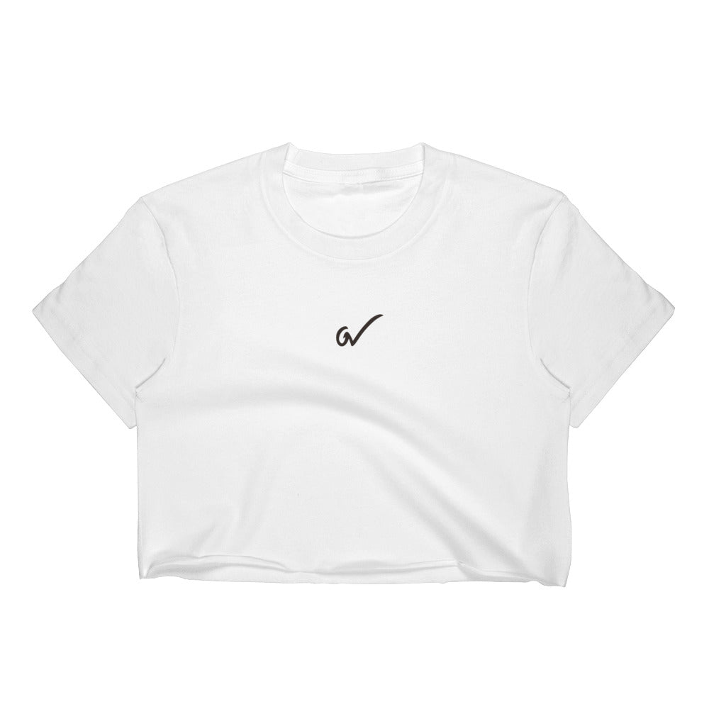 GW CLASSIC - White Crop Top - Greatness Within