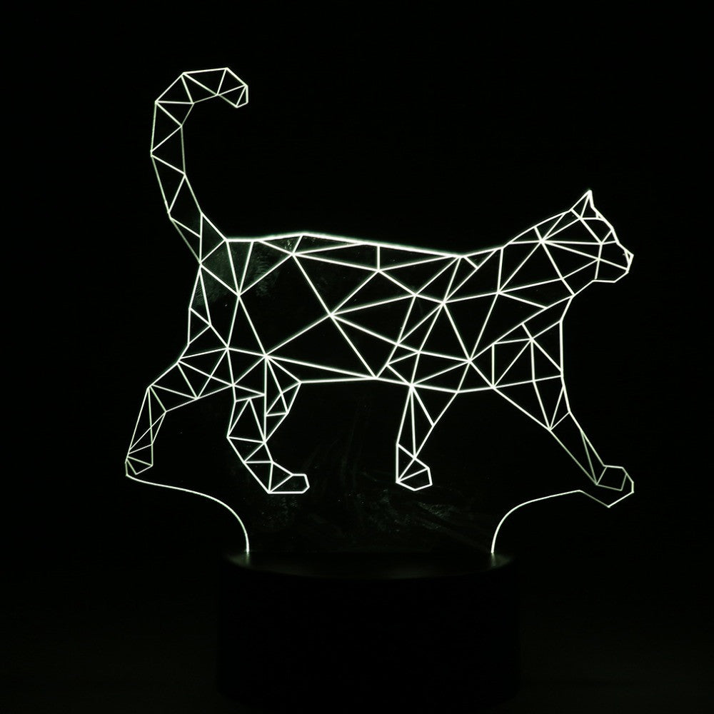 3D Walking Cat Lamp