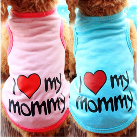 Cute Dog T shirt Love Mommy Daddy