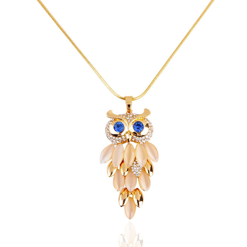 Crystal Jewelry Owl Necklace
