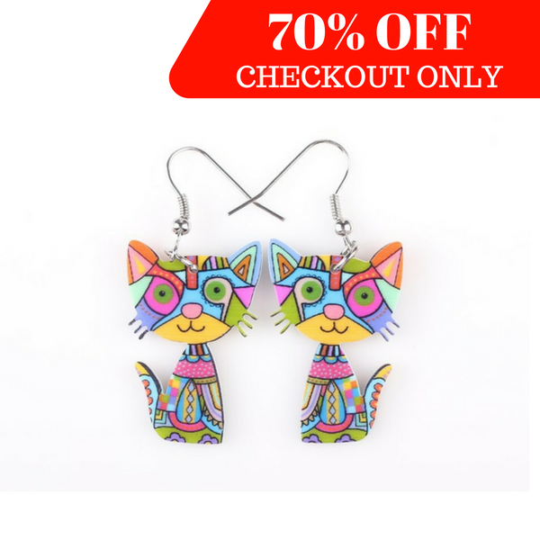 Stylish Drop Cat Earrings - Special