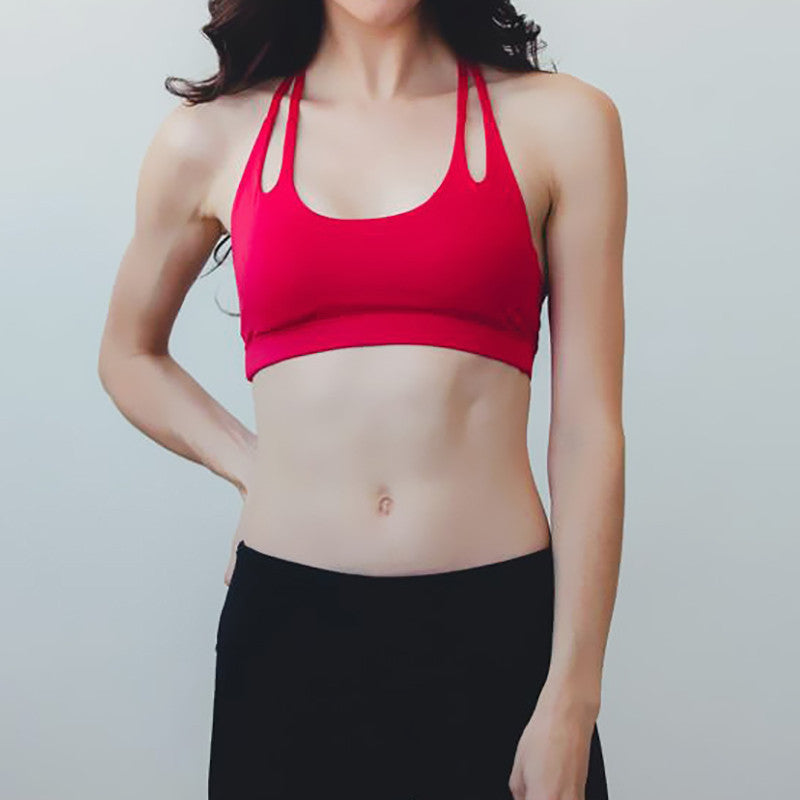 GemActiv Double Lined T-Back Wirefree Yoga Sports Bra
