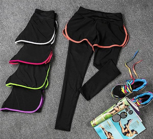 MojoFit's 2-in-1 Elastic Sporty Tights