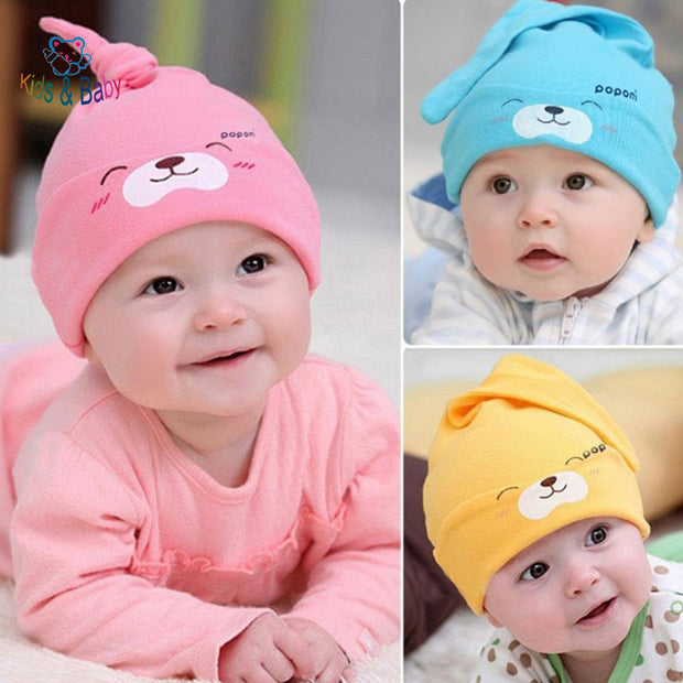Baby Beanie Warm Sleep Cotton Toddler