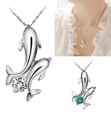 Twin Dolphins Necklace