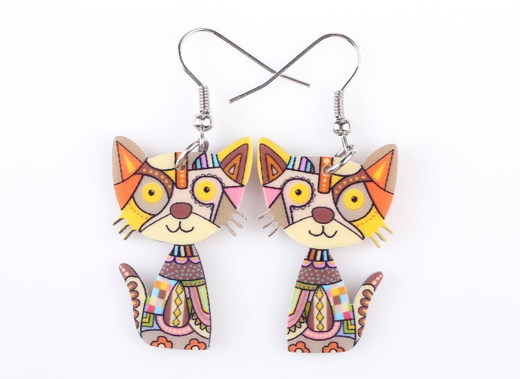 Stylish Drop Cat Earrings