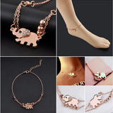 Rose Gold Elephant Anklet