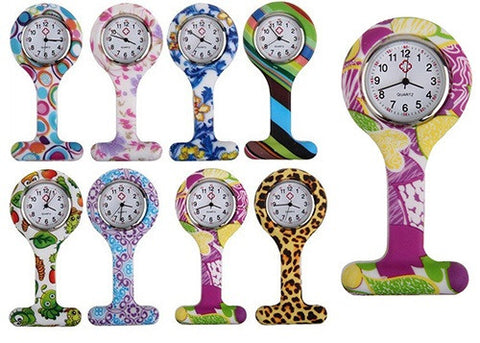 Fashion Pattern Nurse Fob Watch