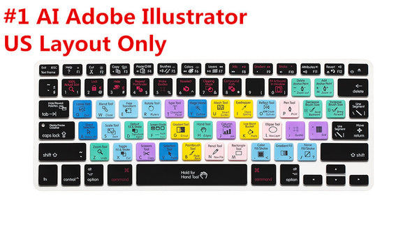 Illustrator Shortcuts Keyboard Cover for Macbook/Apple