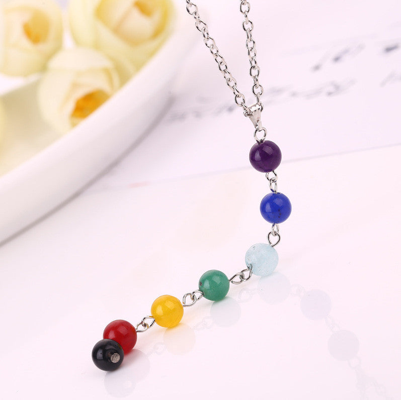 7 Chakra Healing Beads Yoga Therapy Necklace