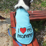 Cute Medium/Large Dog Vest I Love My Mommy Daddy