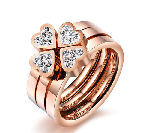 Luxury Trinity Heart Ring