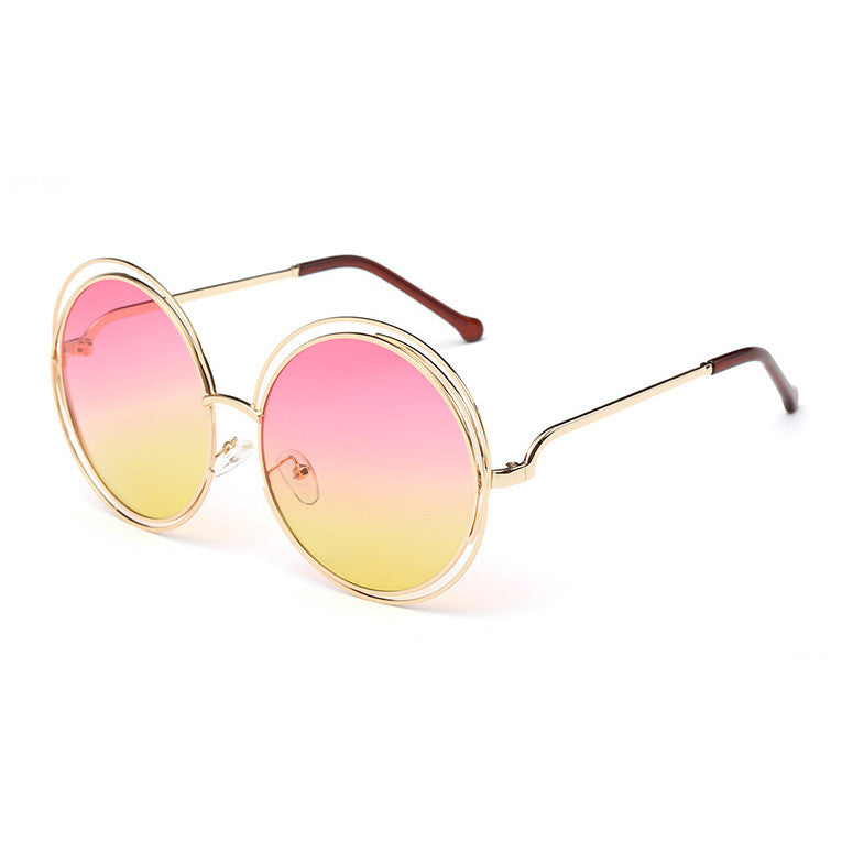 Lady Cool Vintage Round Sunglasses
