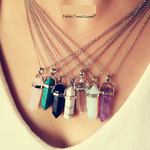 Multi Color Quartz Necklace